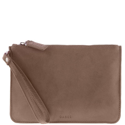 Gabee-Queens Leather Pouch-TAUPE-Leather Accessories - Gabee Bags | Gabee.com.au - 1