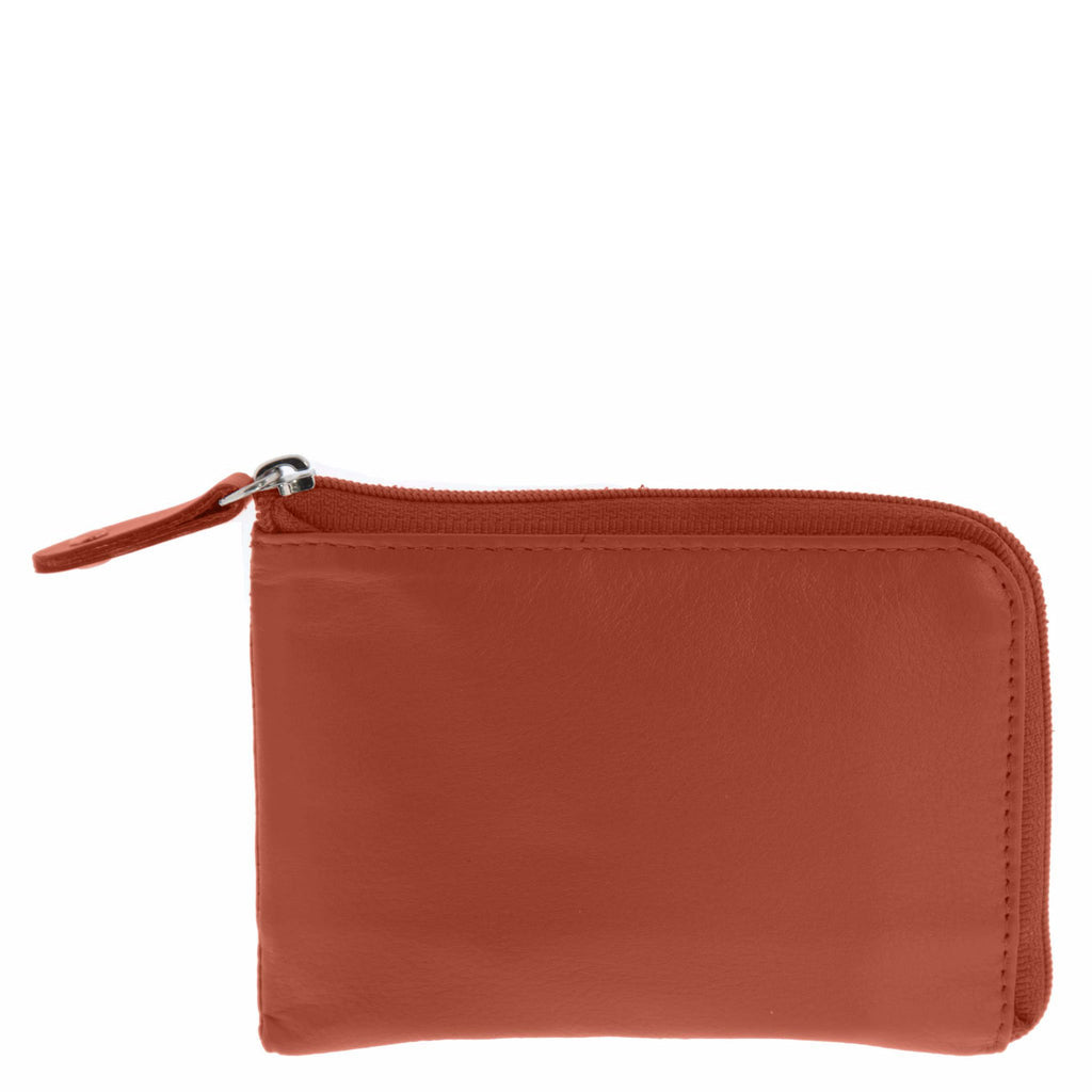Strauss RFID Safe Leather Coin Wallet