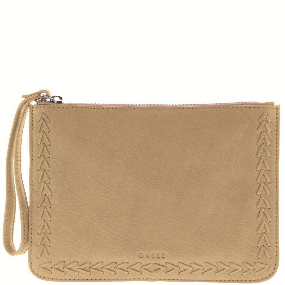 Liberty Soft Leather Whipstitch Wristlet