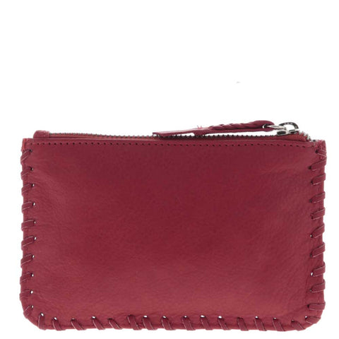 Bleecker Small Soft Leather Whipstitch Pouch