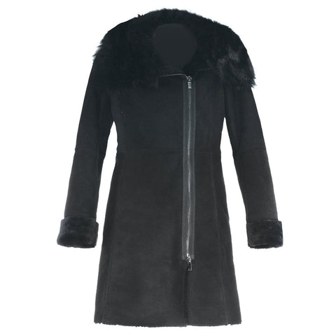 Cecilia Suede and Fur Coat