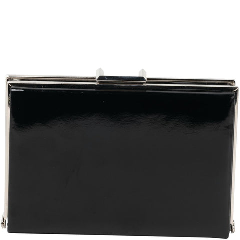 Gabee-Ayisha Patent Square Frame Clutch-BLACK-Clutch |Gabee.com.au leather, Bags & Accessories since 1949
