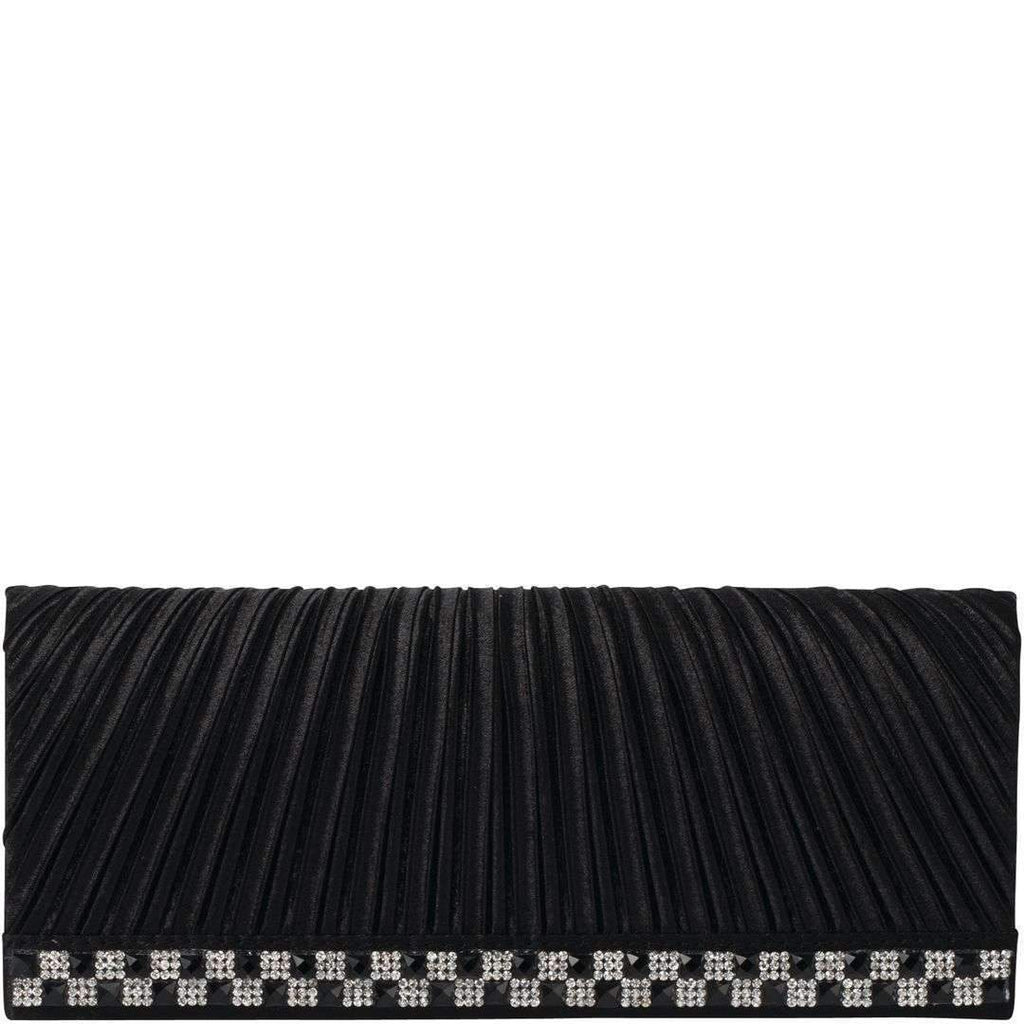 Sassy Pleated Satin Rouged Clutch