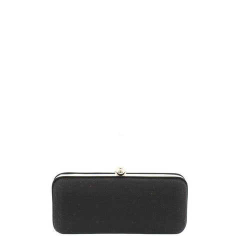 Gabee-Paige Sparkle Metal Box Clutch-BLACK-Clutch |Gabee.com.au leather, Bags & Accessories since 1949 - 2