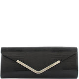 Gabee-Iris Snake Clutch-BLACK-Clutch |Gabee.com.au leather, Bags & Accessories since 1949 - 1