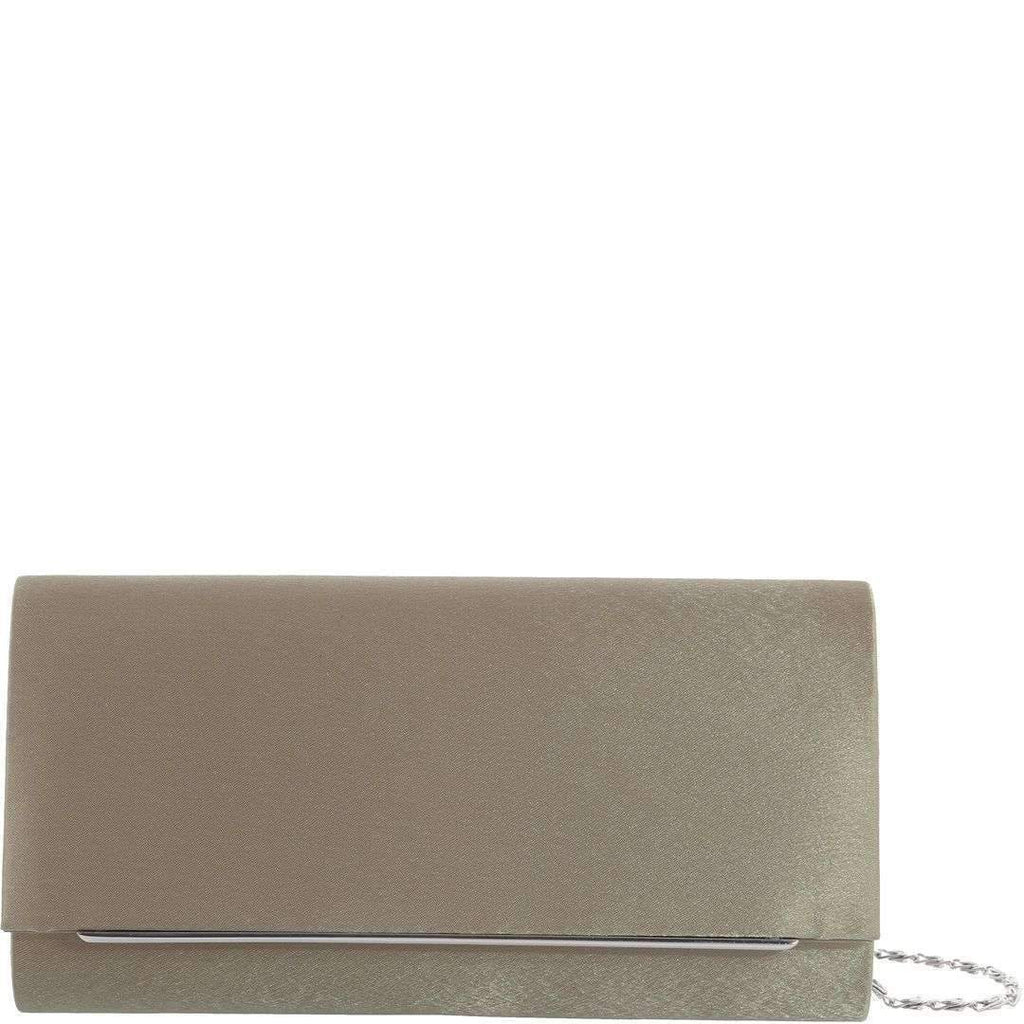 Angel Satin Clutch - Taupe