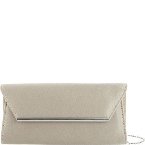 Gabee-Cindy Satin Clutch-NUDE-Clutch |Gabee.com.au leather, Bags & Accessories since 1949 - 1