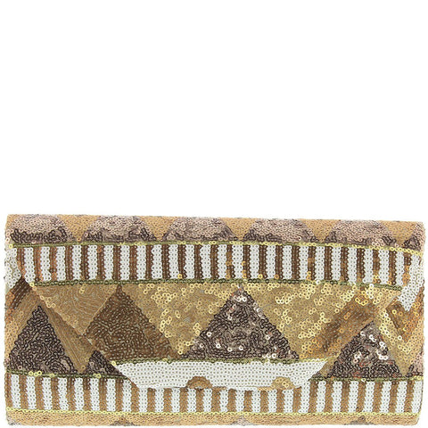 Gabee-Karla Sequin Clutch-GOLD-Clutch |Gabee.com.au leather, Bags & Accessories since 1949 - 1