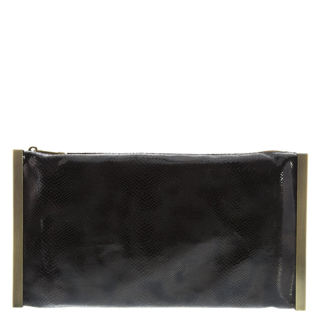 Gabee-Pam Metal Frame Clutch-BLACK-Clutch |Gabee.com.au leather, Bags & Accessories since 1949 - 1