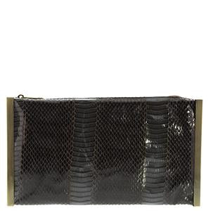 Macey Snake Metal Frame Clutch