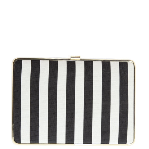 Gabee-Yasmin Box Clutch-BLACK & WHITE-Clutch |Gabee.com.au leather, Bags & Accessories since 1949