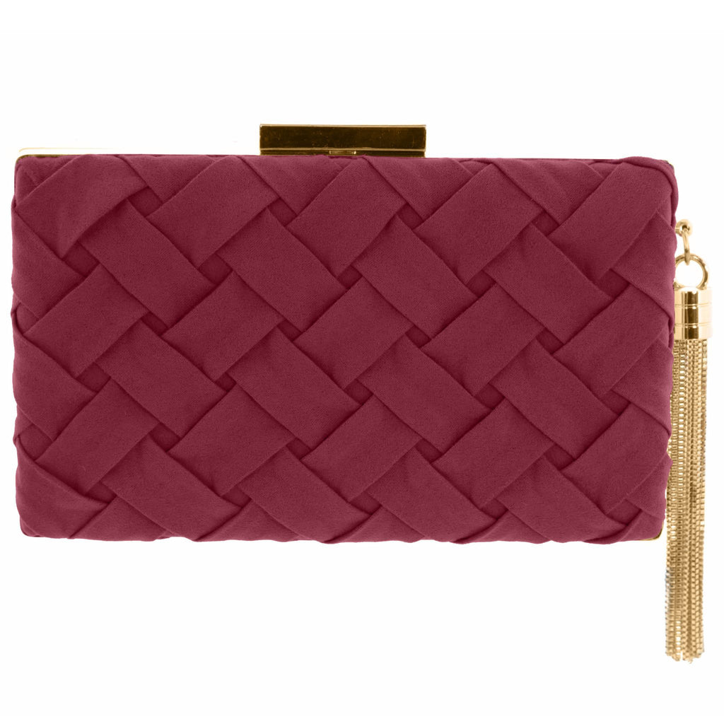 Morgan Rouged Suede Clutch