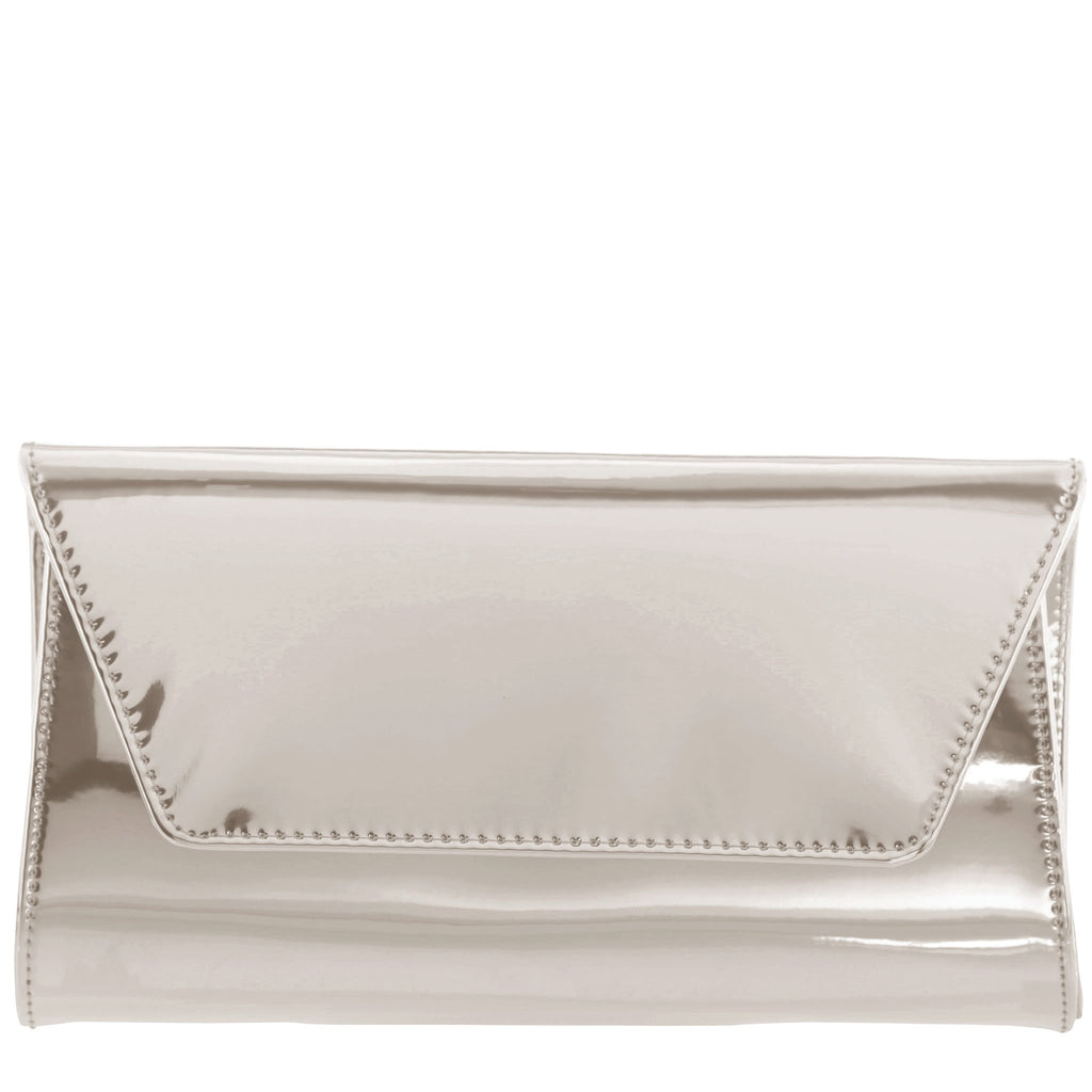 Sari Patent Envelope Clutch
