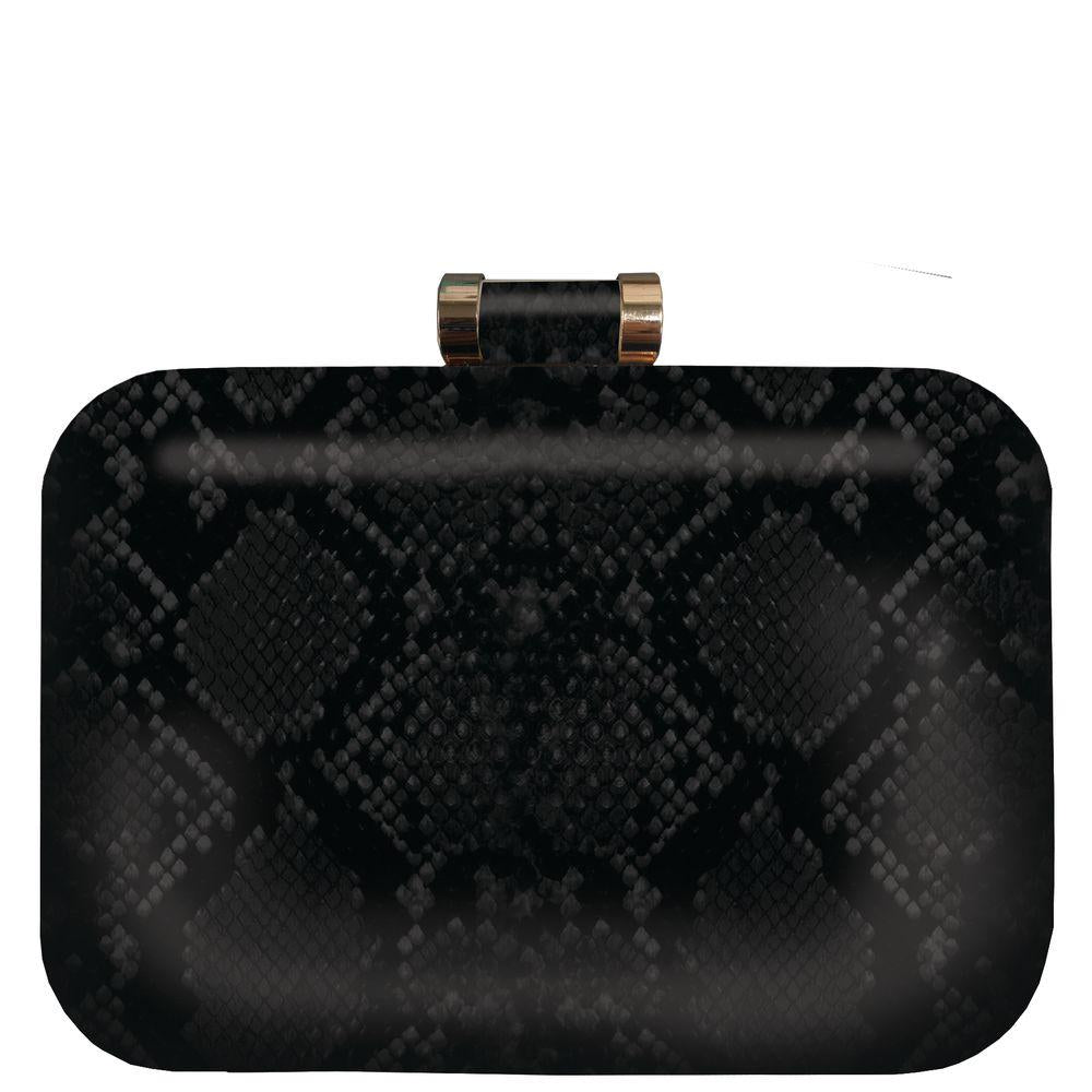 Cosmo Python Rounded Box Clutch