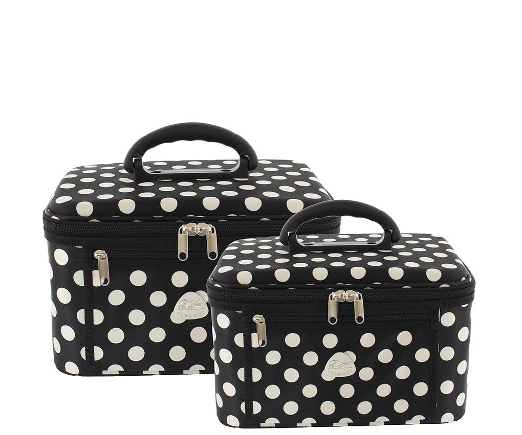 Serengeti Beauty Case 2 Piece Set - Black & White