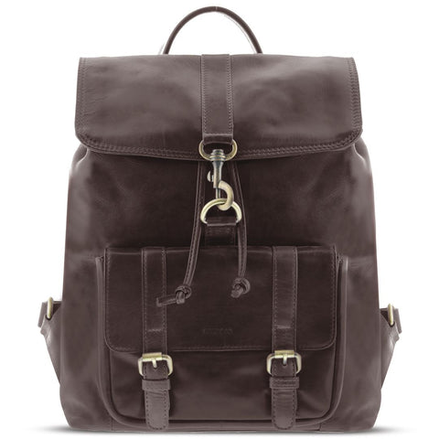 York Large Leather Backpack