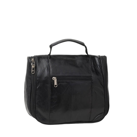 Cobb & Co-Cameron Leather Toiletry Bag-BLACK-Cosmetic Bag |Gabee.com.au leather, Bags & Accessories since 1949