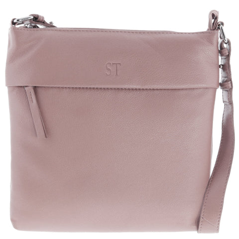 Fiona Leather Monogram Crossbody Bag