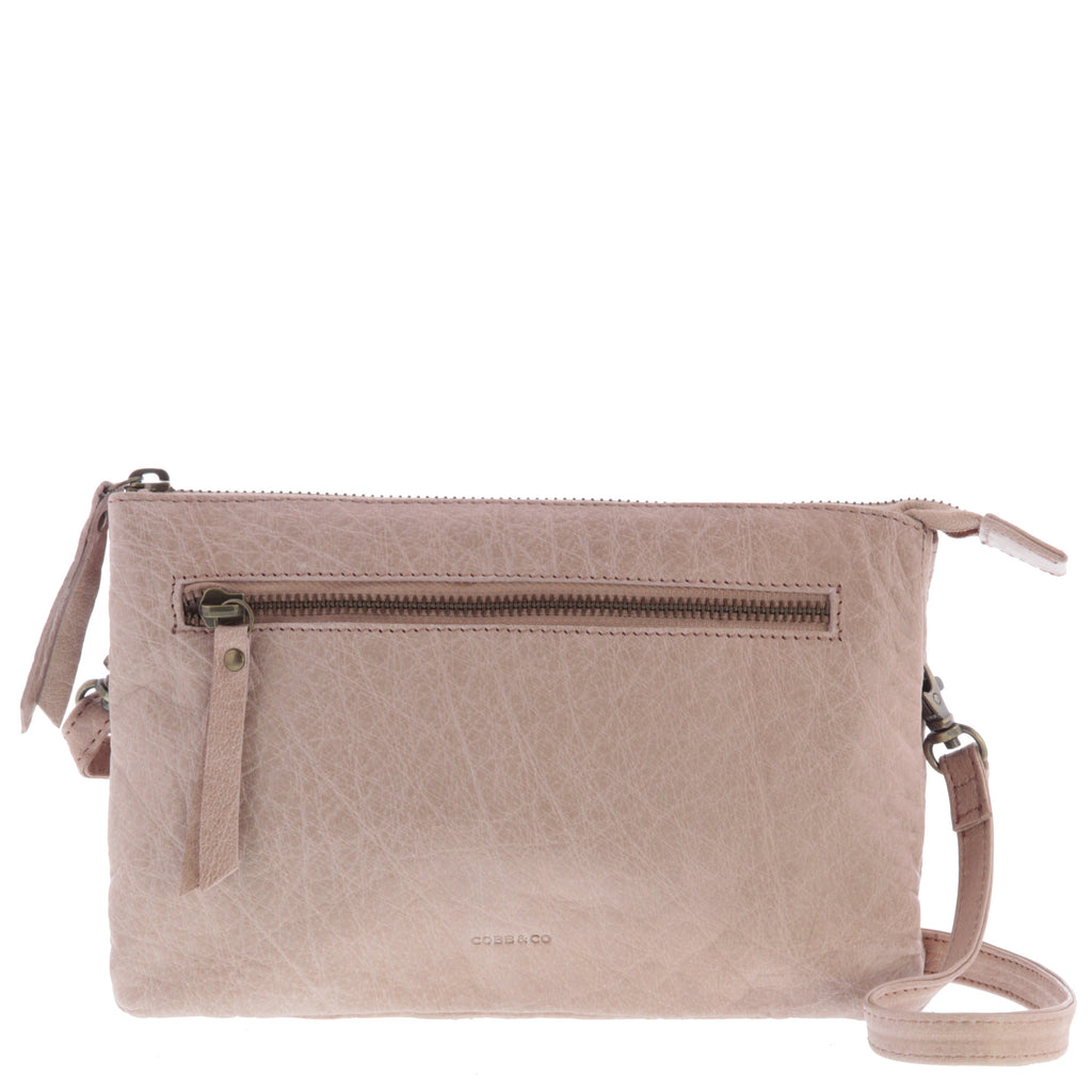 Hervey Leather Double Pouch Crossbody