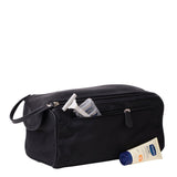 Cobb & Co-Harry Leather Shaving Kit-BLACK-Cosmetic Bag |Gabee.com.au leather, Bags & Accessories since 1949