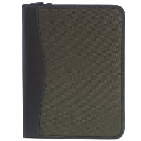 River Leather & Canvas Zip Around Document Sleeve