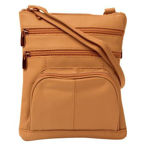 Marcie Leather Frontpocket Crossbody Bag