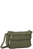 Joe Leather Crossbody - Green