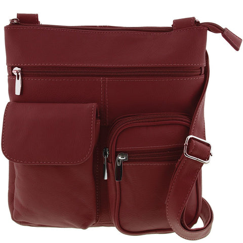 Cobb & Co-Olive Leather Crossbody Bag-RED-Shoulder Bag |Gabee.com.au leather, Bags & Accessories since 1949 - 1