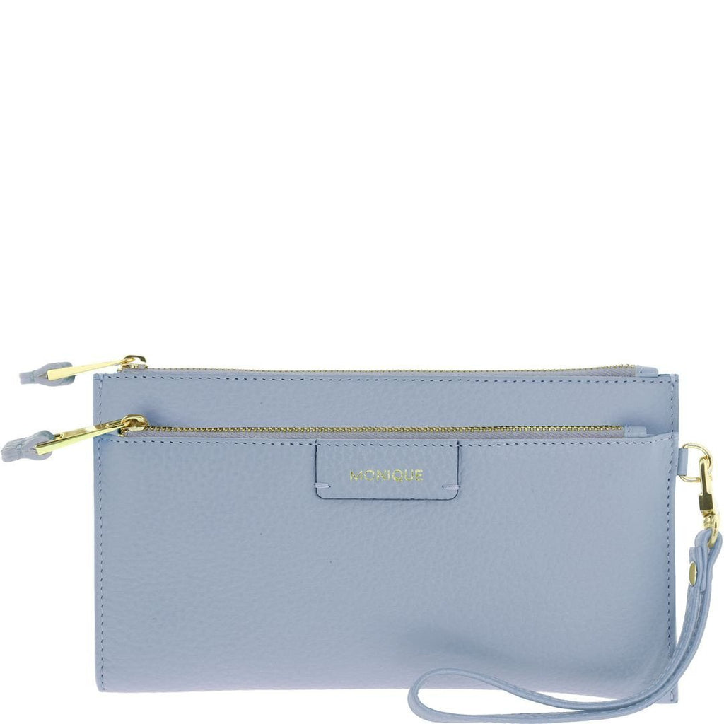 Monique-Marina Leather Wristlet-ICE-Clutch |Gabee.com.au leather, Bags & Accessories since 1949 - 6
