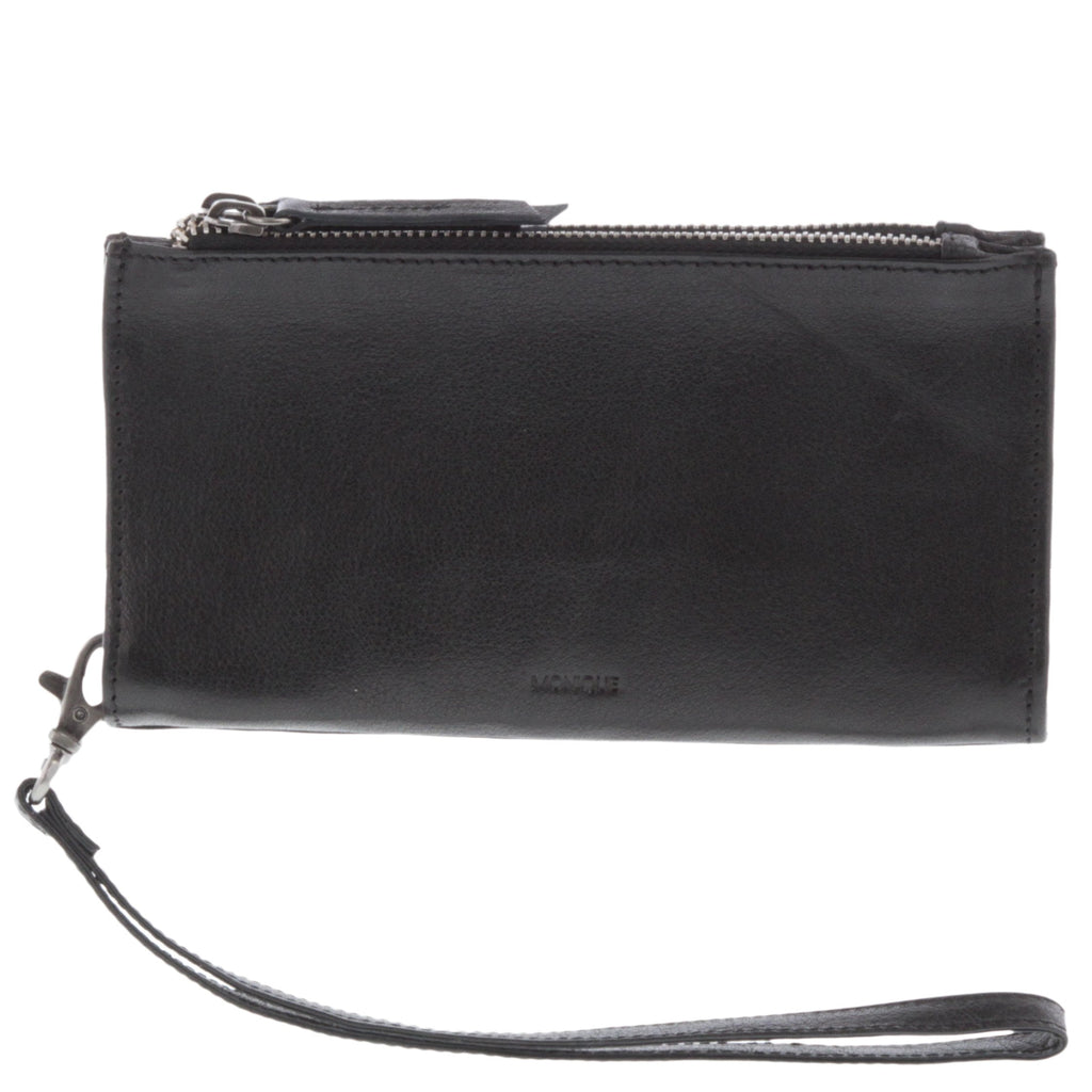 Zadie Leather Double Zip Pouch