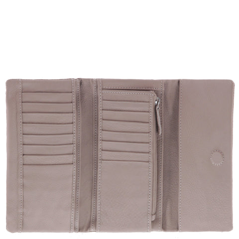 Bailey Leather Flap Tri-Fold Wallet