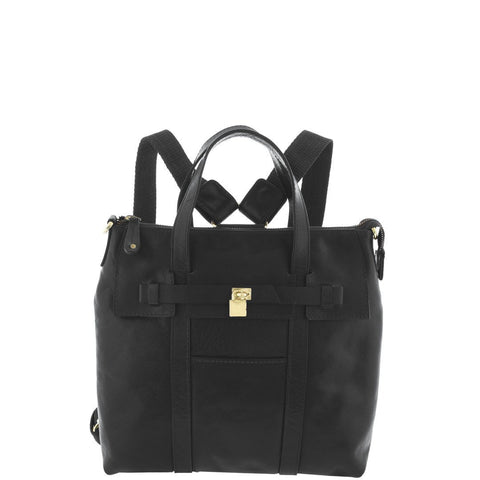Cobb & Co-Portia Leather Bag-BLACK-Backpack |Gabee.com.au leather, Bags & Accessories since 1949 - 2