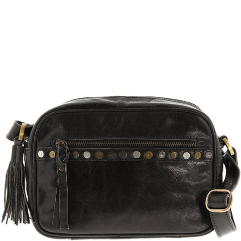 Cobb & Co-Emmy Wash Leather Crossbody Bag-BLACK-Crossbody Bag - Gabee Bags | Gabee.com.au - 3
