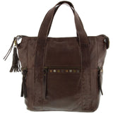 Cobb & Co-Jada Wash Leather Tote-CHOCOLATE-Tote - Gabee Bags | Gabee.com.au - 2