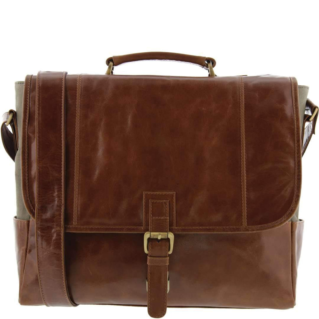 Kennedy Leather Canvas Satchel