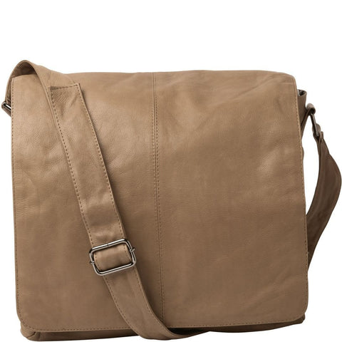 Gabee-Sam Leather Satchel-TAUPE-Satchel |Gabee.com.au leather, Bags & Accessories since 1949 - 1