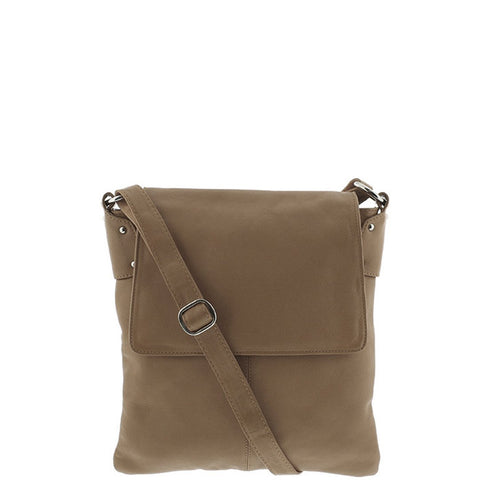 Gabee-Ariana Leather Large Crossbody-TAUPE-Satchel - Gabee Bags | Gabee.com.au - 1