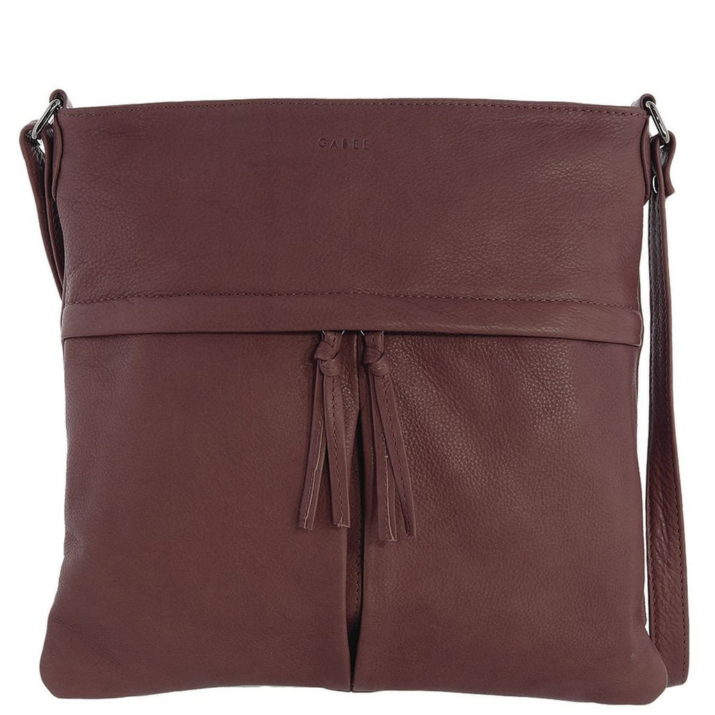 Gabee-Felicity Leather Crossbody Bag-WINE-Crossbody Bag - Gabee Bags | Gabee.com.au - 1