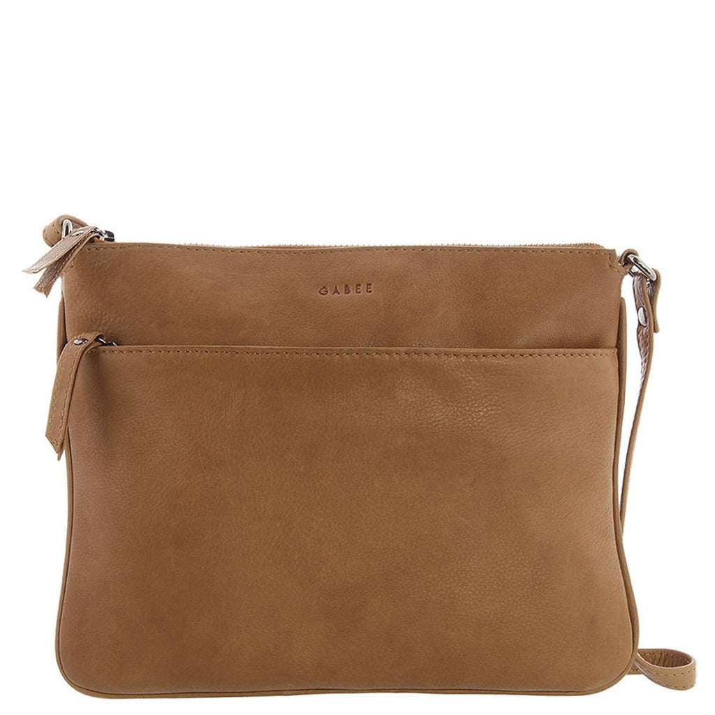 Gabee-Erica Leather Crossbody Bag-TAN-Crossbody Bag - Gabee Bags | Gabee.com.au - 1