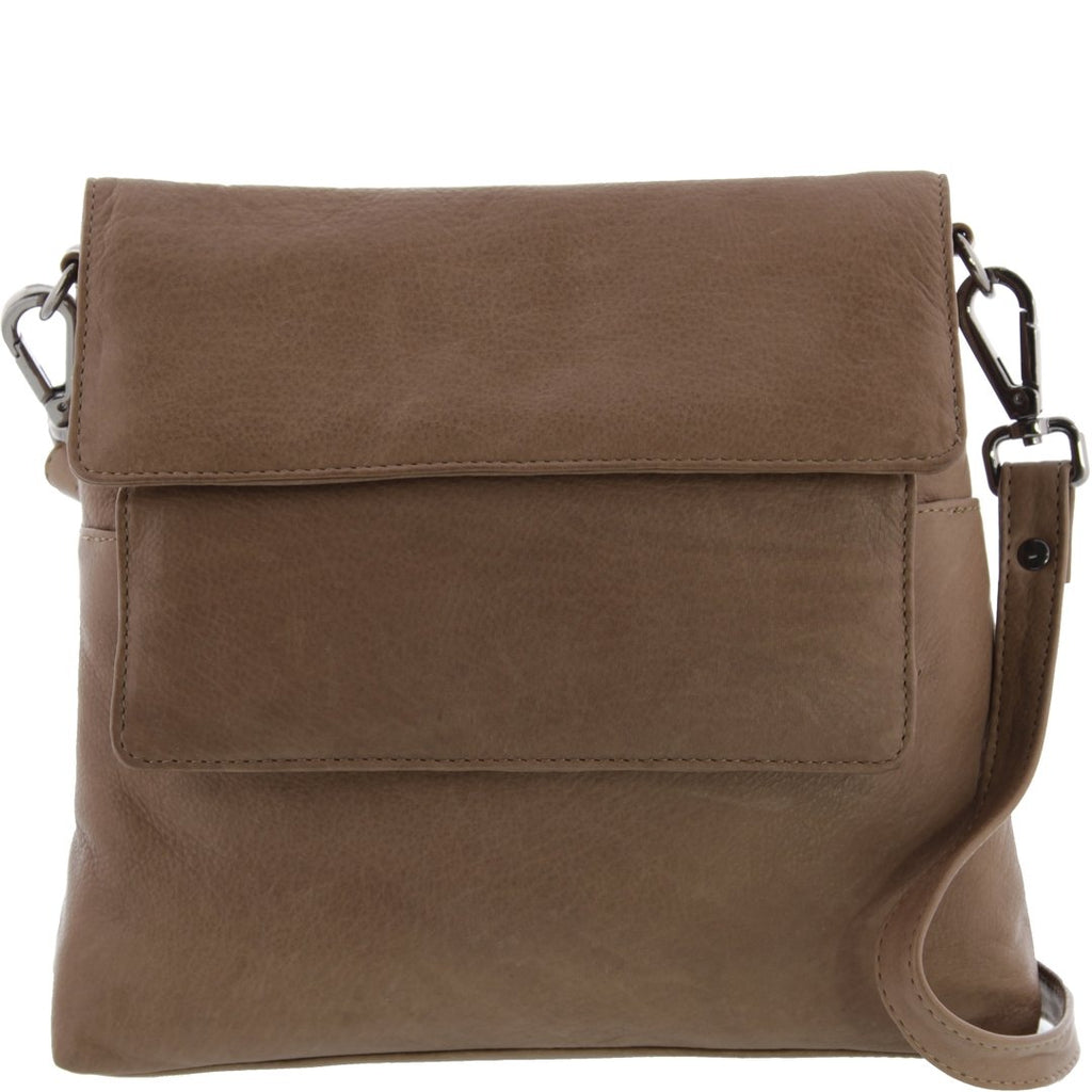 Nyla Soft Leather Double Flapover Shoulder Bag