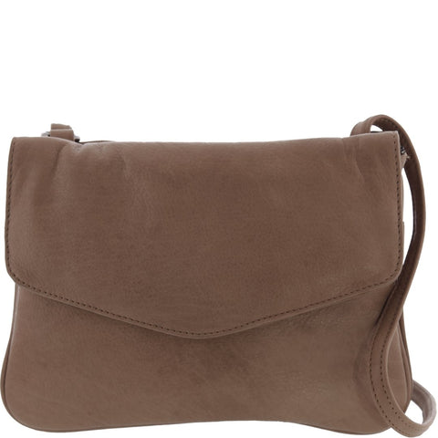 Anabella Soft Leather Envelope Tri Compartment Crossbody Bag