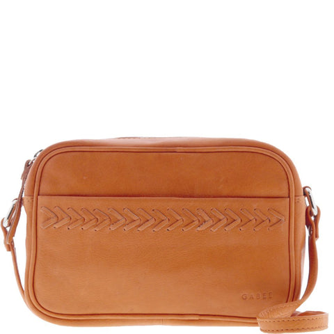 Patrea Leather Tassle Crossbody Pouch