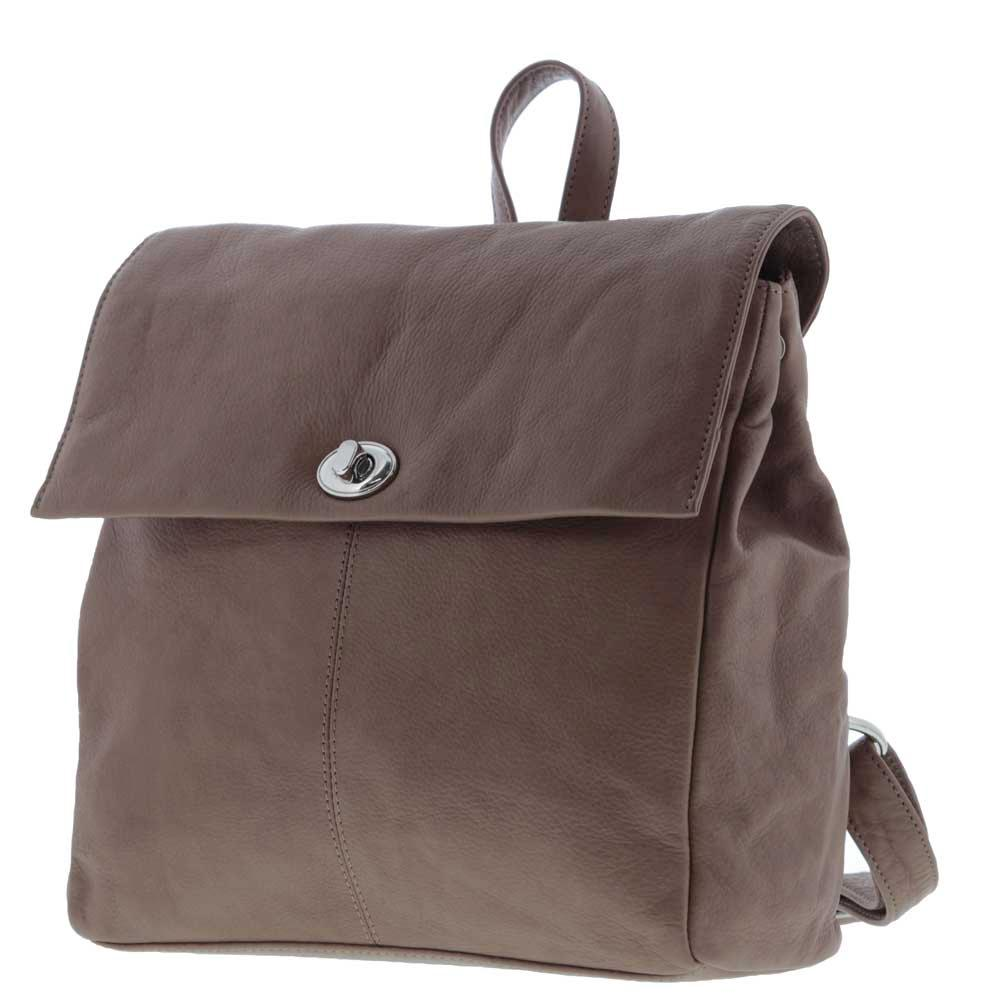 Harlow Turn Lock Soft Leather Backpack