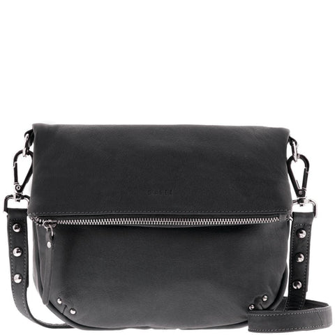 Ariel Fold Over Soft Leather Saddle Bag