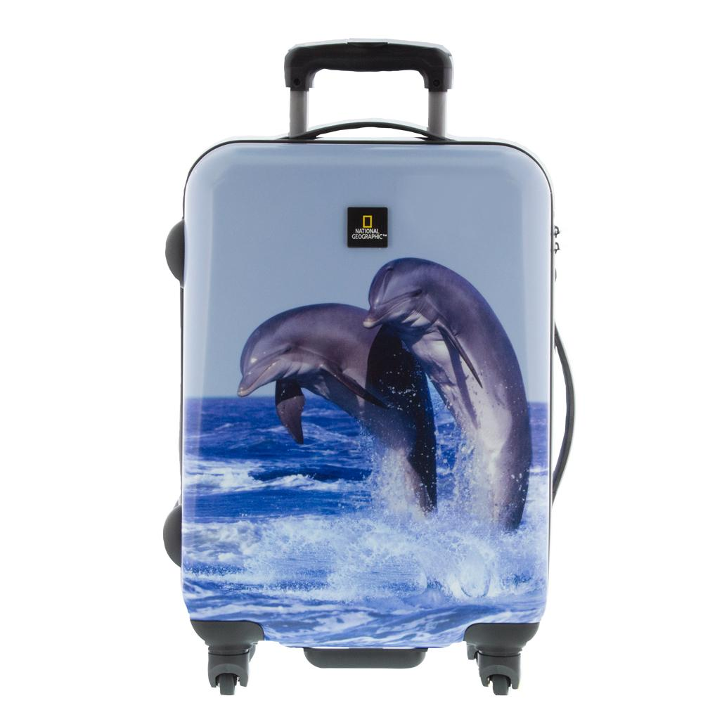 Dolphin National Geographic Hard Side Luggage 2pc Set