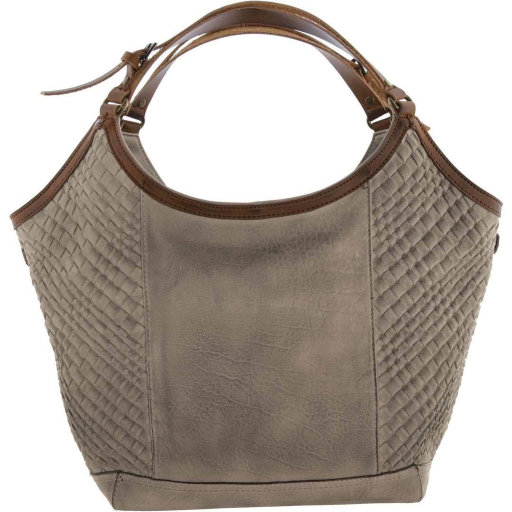 Edith Faux Leather Woven Tote
