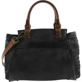 Eve Faux Leather Woven Handbag