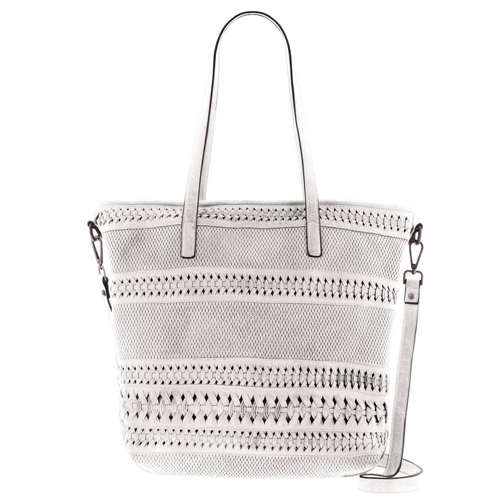 Whitney Woven Vegan Leather Tote