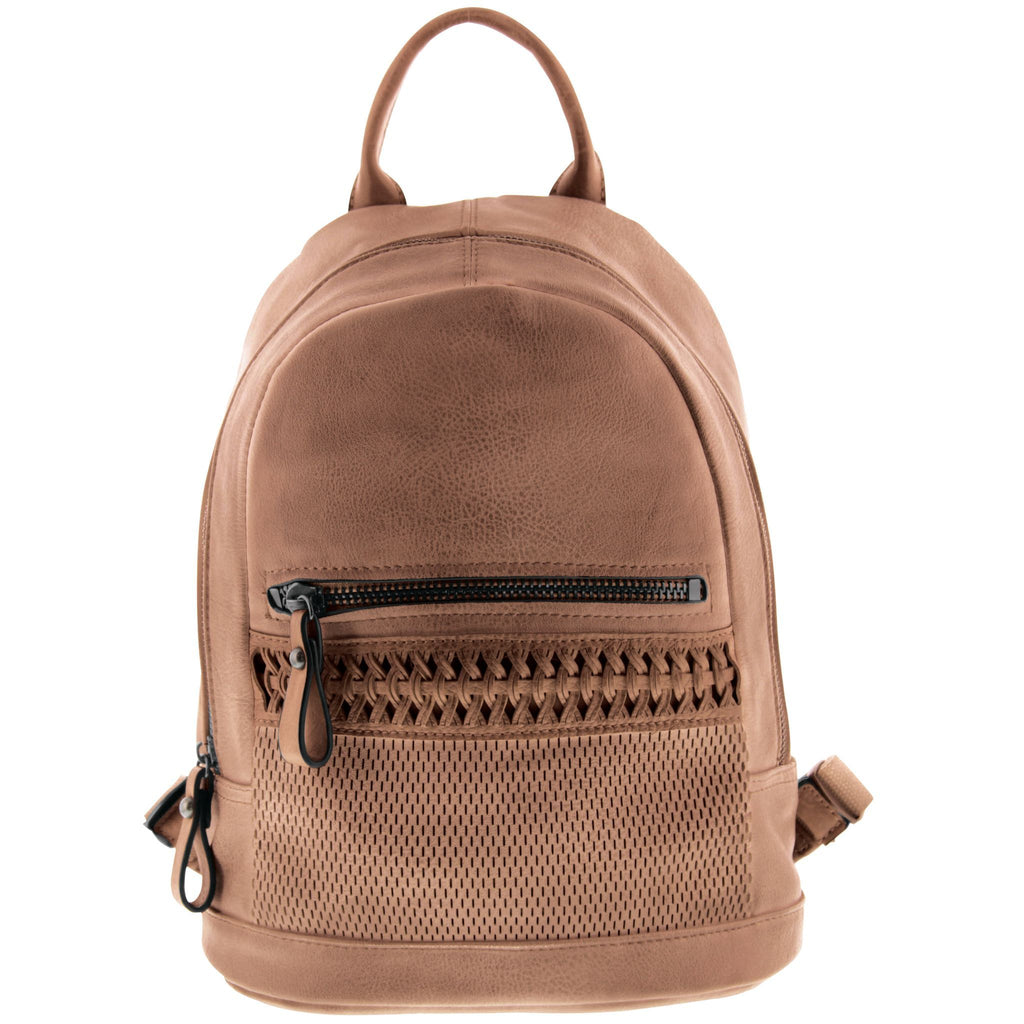 Tyler Woven Vegan Leather Backpack