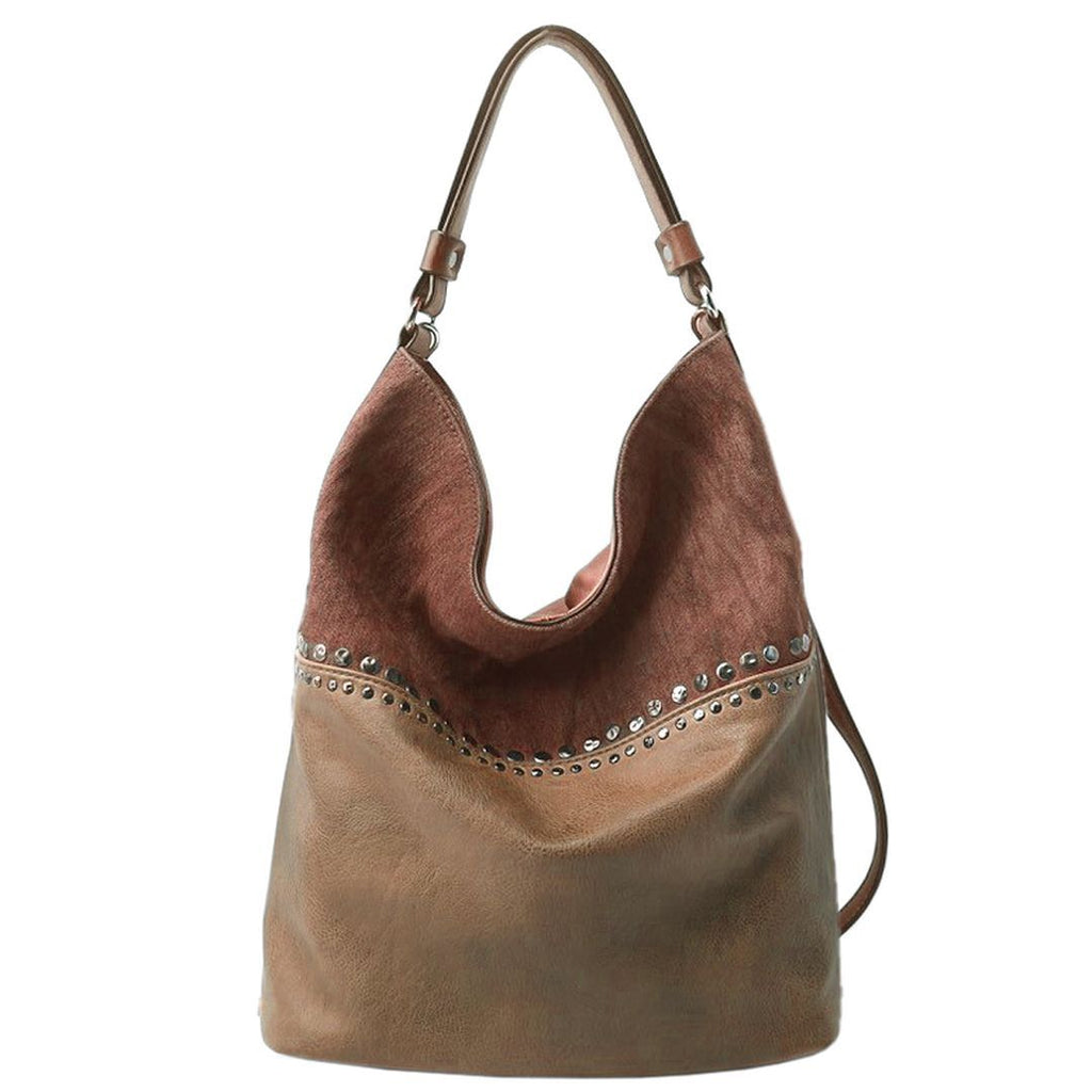 Charleze Canvas & Vegan Leather Hobo